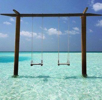 Ocean Swingset photography sky beach beautiful ocean travel vacation swings