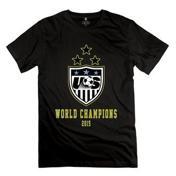 c90e18b89e1 Amazon.com: RIen Men's FIFA 2015 Women's World Cup Champions USWNT Logo T-