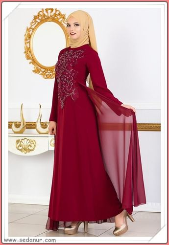 cfa5411d7d1c8 Genç Tesettür Giyim Mezuniyet Elbisesi Modelleri 2018 Lookb