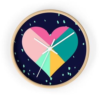 Geometric Heart Wall Clock For ValentineS Day