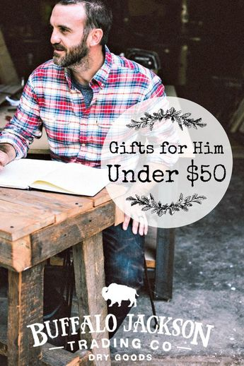 Looking for Christmas gift ideas for him under 50 dollars? Check out our 2018 Under $50 Holiday Gift Guide for men. All the best men's gift ideas for husbands, dads, boyfriends, and sons — all unique and within your budget! #giftguide #giftguides #giftsforhim #mensguides #honoryourwild