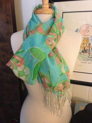Lilly Pulitzer Limited Edition Murfee Scarf called Tootie in Shorely Blue in honor of Belk's 125th anniversary.