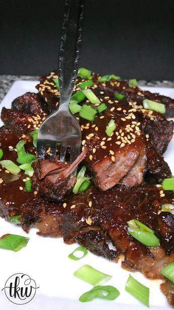 Korean Gochujang Sticky Boneless Beef Short Ribs