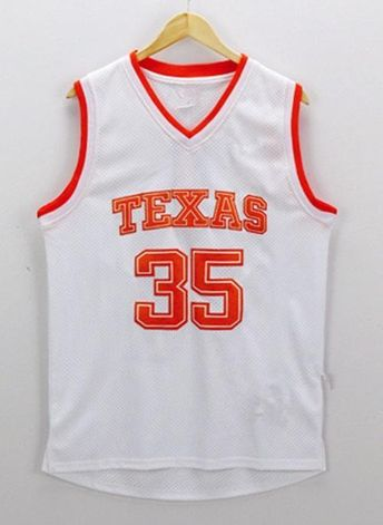 Men 35 Kevin Durant Swingman Jersey White Texas Longhorns Jersey 0c545e3da