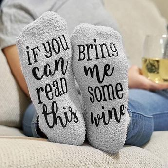 Wine Lover Custom Thermal Socks #inspireuplift #coffee #CoWorker #anniversaries #BundleWithWineAndChocolate #christmas #BridalShower #adorable #AntiSlip #CoffeeLover  Want to put a smile on the face of the wine lover in your life? Then look no further, because these adorable and gift-ready, Wine Lover Custom Thermal Socks, arrive ready to please in delightful, cupcake packaging. These hilarious Wine Socks are guaranteed to make your recipient squeal with happiness this Christmas! We promise, the