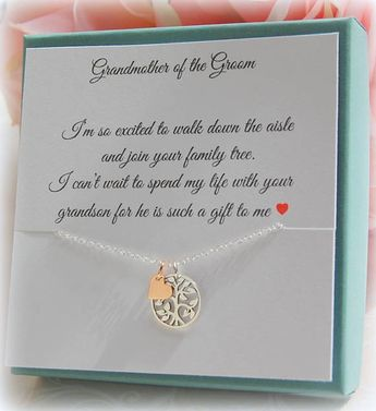 Grandmother of the Groom from Bride, Grandmother Wedding Gift, Grandma of the Bride, Nana, sterling silver, wedding jewelry