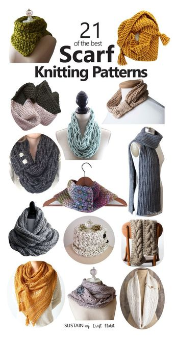 21 STUNNING scarf knitting patterns! Just in time for Christmas gift giving. Stylish and easy scarf #knitting patterns. #knittinglove #knittingpattern #knittinginspiration