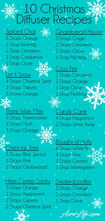 Essential Oil Christmas Diffuser Recipes