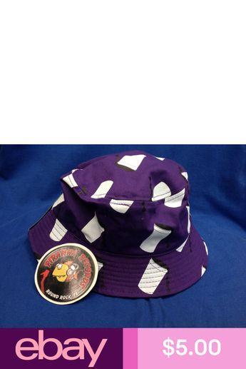 Black Drank Printed Purple Full-Brim Bucket Hat ONE SIZE Piranha Records d5813877cd47
