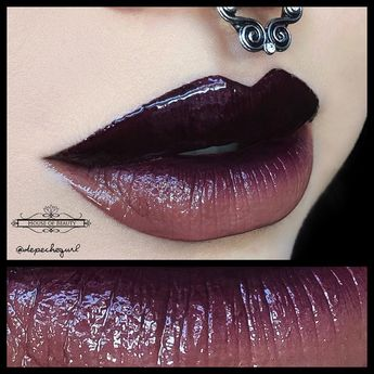 Burgundy Ombre Lips