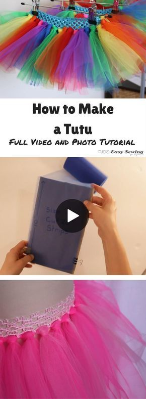 How to Make a Tutu with a No Sew Tutu Option