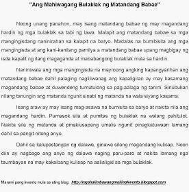 Halimbawa ng Maikling Kwento sa Hayop - A Tale of Short Sto