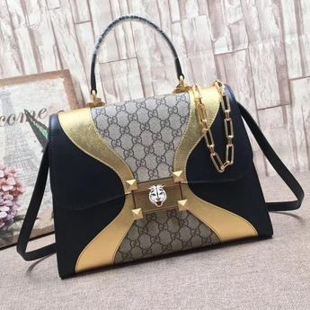 63baef88ae99 Gucci Lilith Leather Top Handle Bag With Tiger &