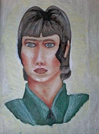Als ich 16 Jahre alt war, Selbstporträt / Öl auf Karton RZ © 1966