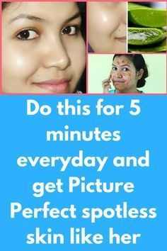 Do this for 5 minutes everyday and get Picture Perfect spotless skin like her