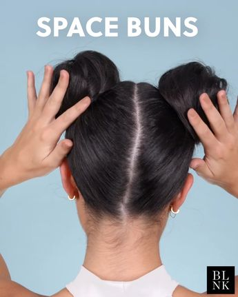 How to Create Space Buns #doublebuns #hairtutorial