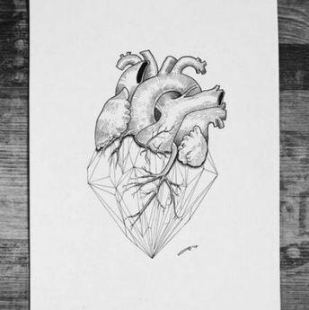 53 Trendy Drawing Heart Geometric Tattoo Ideas #drawing #tattoo