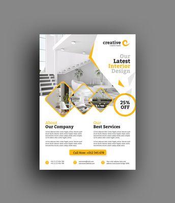 Toronto Elegant Interior Design Flyer Template - Graphic Templates