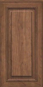Square Raised Panel - Solid(AA0C6) Square Chocolate W/Ebony Glaze