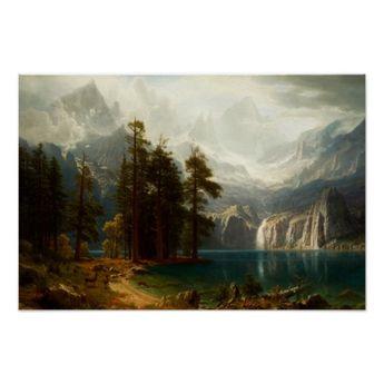 Bierstadt Sierra Nevadas Poster | Zazzle.com