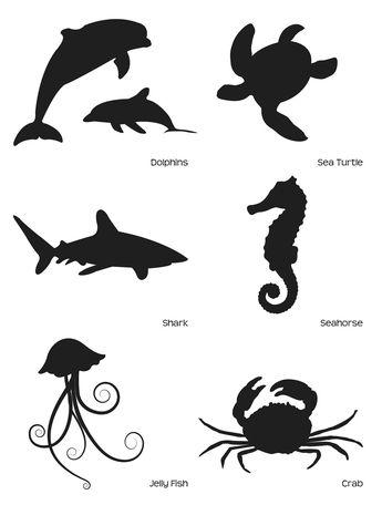 Dolphin Silhouette Art Sea Life Animals Sea by TheArgyleAardvark