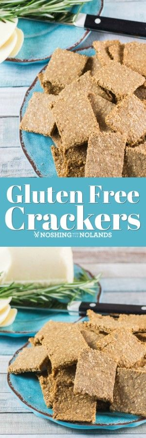 Gluten Free Crackers Recipe - Simple cracker made with four ingredients