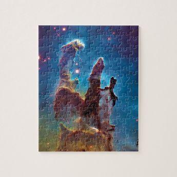 Pillars of Creation M16 Eagle Nebula Space Photo Jigsaw Puzzle | Zazzle.com