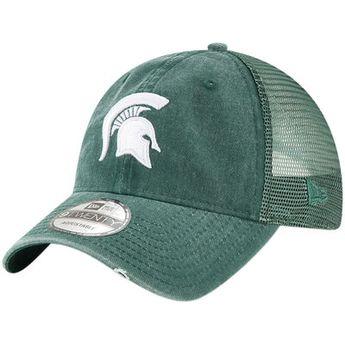 7a00ef5f6fa Men s New Era Green Michigan State Spartans Tonal Washed Trucker 9TWENTY  Adjustable Snapback Hat