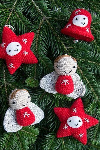 35 decorazioni natalizie all'uncinetto e Amigurumi
