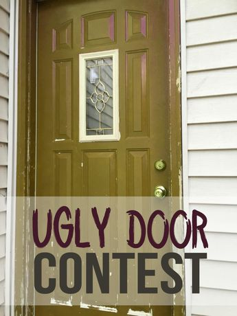 UGLY DOOR CONTEST!  WIN HALF OFF one of our amazing doors! We're looking for the ugliest door out there, if you (1) pin your ugly door (2) repin this original post (3) and comment! Oh, and you'll get HALF OFF another door to give away to a friend or family member!  The contest starts TODAY, and will go until August 12th. Participants must complete all three requirements to be eligible.
