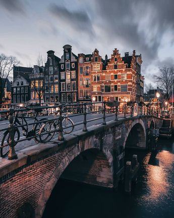 See canals of Amsterdam looking eerily quiet