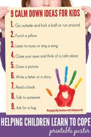 Calm Down Yoga Routine for Kids: Printable