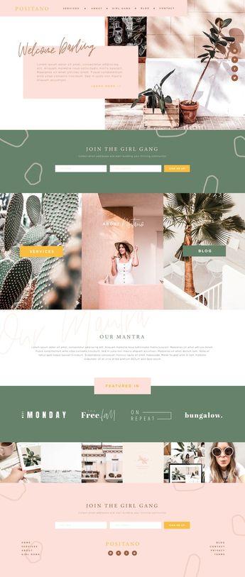 WordPress template, ProPhoto template, website design, colorful website design, online business website layout, The Blog Stop, Ariel Garcia