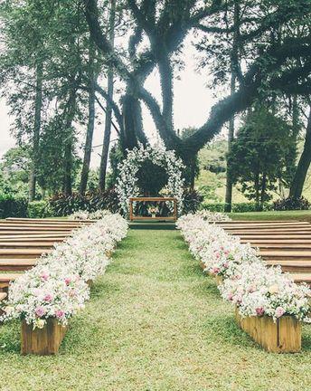 Inspirações para a decoração da cerimônia de casamento
