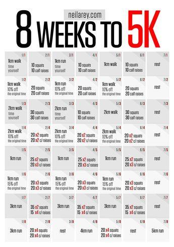 #longdistance #infographics #running #program #week #to #kLong-Distance Running Infographics Running Program / 8 week to running 5KRunning Program / 8 week to running 5K