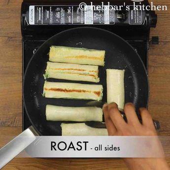 Paneer bread roll recipe   bread paneer rolls   paneer stuffed bread rolls