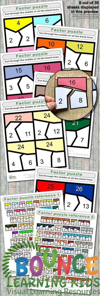 List of attractive factoring puzzle fun ideas and photos | Thpix