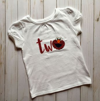 2nd Birthday Shirt Elmo Two Girl Tshirt