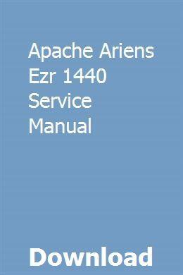 Apache Ariens Ezr 1440 Service Manual pdf download