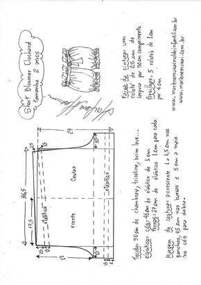367580bd5f Short bloomer clochard - DIY- marlene mukai - molde infantil