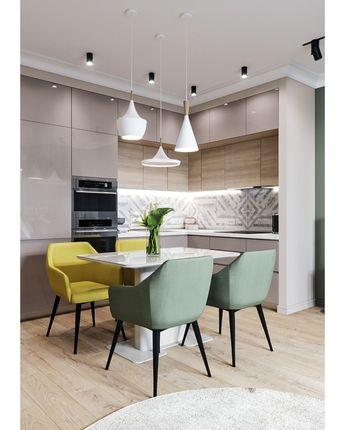 1,948 отметок «Нравится», 36 комментариев — Лучшие идеи для вашего дома ✨ (@interier_house_dizain) в Instagram: «Проект кухни-гостиной Интерьер получился очень светлым и уютным А как вам такое сочетание цветов?…»