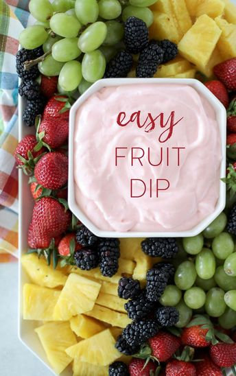 Easy Fruit Dip - made with 4 ingredients in under 5 minutes