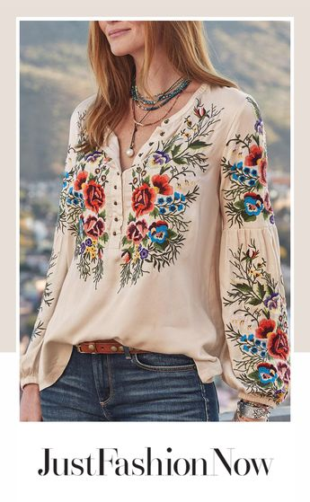 $27.42!Casual Floral V Neck Long Sleeve Shirt & Top!