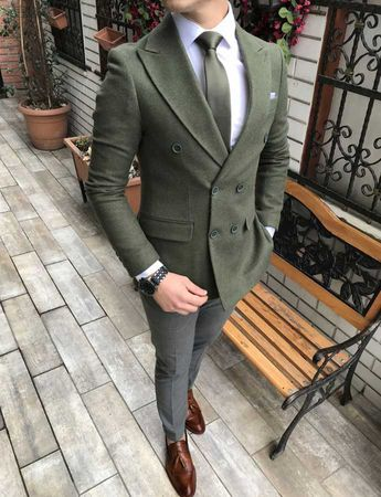 91cf8eb6baf10 Terziademaltun - İtalyan stil erkek slim fit kadife kaşe blazer yeşil tek  ceket T3084
