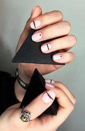 25 Stunning Minimalist Nail Art Designs   - Gel Nail Designs - #Art #Designs #Gel #Minimalist #Nail #Stunning