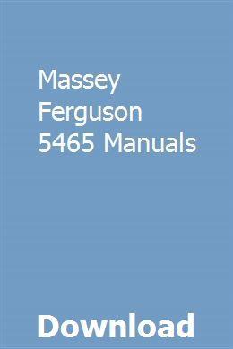 Massey Ferguson 5465 Manuals