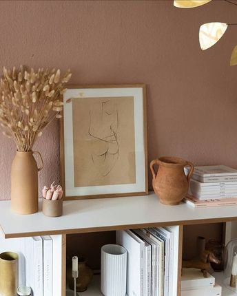 """THE POSTER CLUB on Instagram: """"Lovely details and 'Nude 02' in the home of @wunderblumen"""