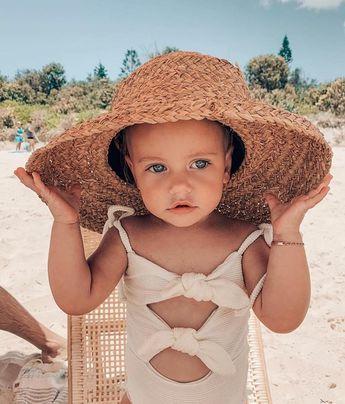 family vacation | summer | beach | child | toddler | kids | bug straw hat