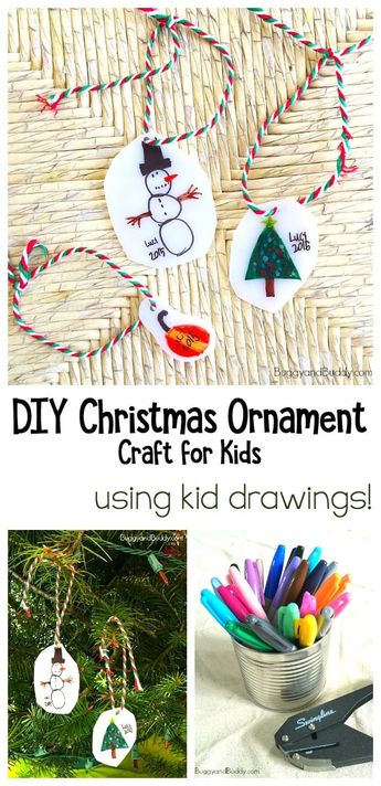 Adorable Homemade Keepsake Ornament Craft for Kids