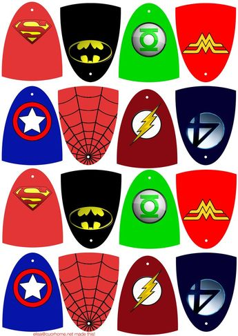 These are hero capes. You can print them on cardstock, cut them out, make a hole where it should be and tape them to lollipops to make superhero lollipops.